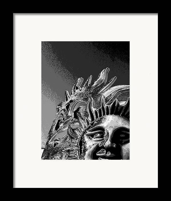 Sun Framed Print featuring the digital art Split Persunality by Rebecca Flaig