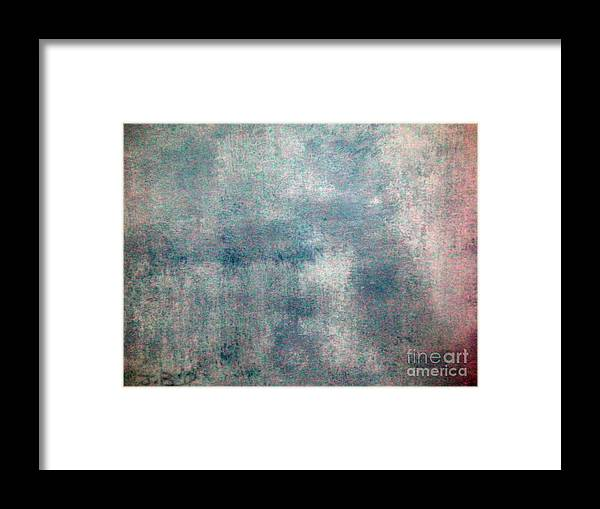 Hand Painted Framed Print featuring the painting Sponged by Joseph Baril