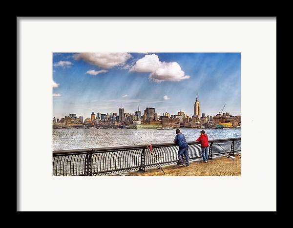Savad Framed Print featuring the photograph Sport - Fishing by Mike Savad