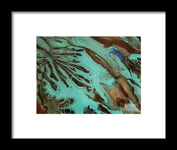 Brown Framed Print featuring the photograph Spot Of Blue by Lisa Payton