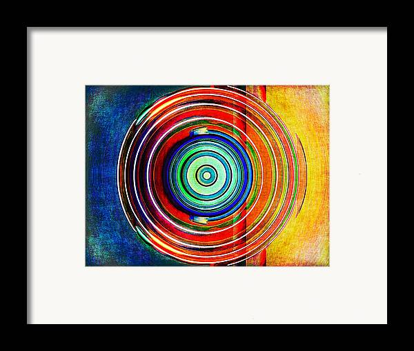 Abstract Framed Print featuring the digital art Spot On by Wendy J St Christopher