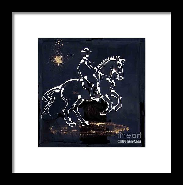 Norse Framed Print featuring the painting Spotlight Lusitano by Diane Schell