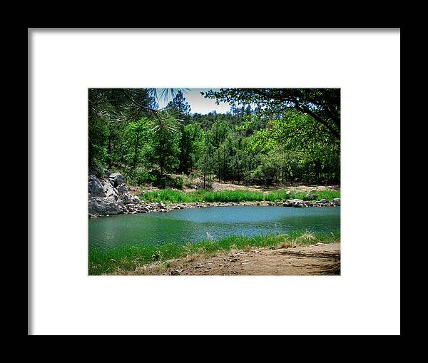 Goldwater Lake Framed Print featuring the photograph Spring At Goldwater Lake by Aaron Burrows
