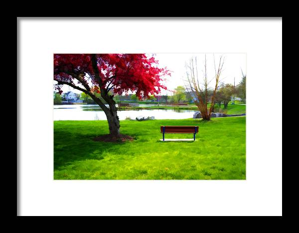 Sayre Pond Framed Print featuring the digital art Spring Can't Come Fast Enough by David Simons