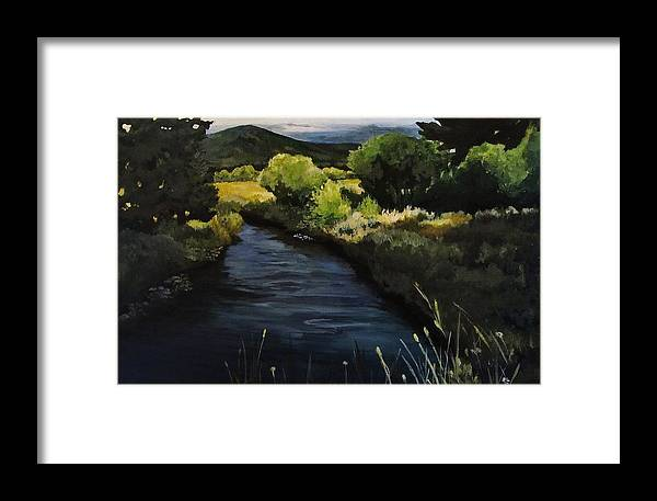 Landscape Framed Print featuring the painting Spring Creek by Suzanne Tynes