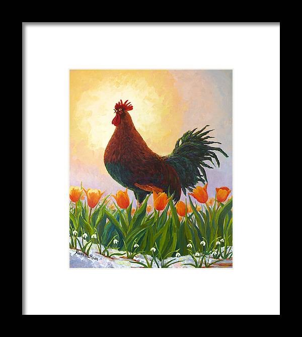 Spring Framed Print featuring the painting Spring Fever by Karen Mattson