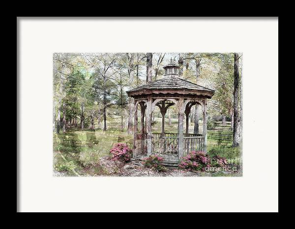 Nature Framed Print featuring the photograph Spring Gazebo Painteffect by Debbie Portwood