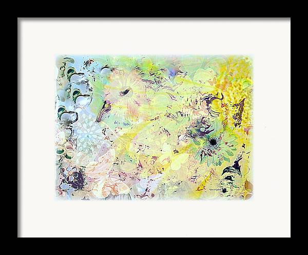 Flowers Framed Print featuring the mixed media Spring Happiness by YoMamaBird Rhonda