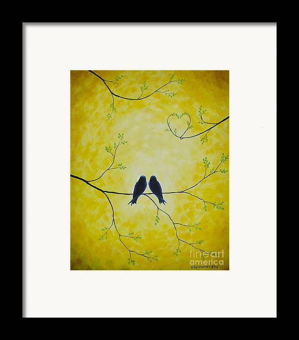 Art Framed Print featuring the painting Spring Is A Time Of Love by Veikko Suikkanen