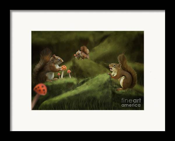 Digital Painting Framed Print featuring the painting Spring by Ivan Pawluk