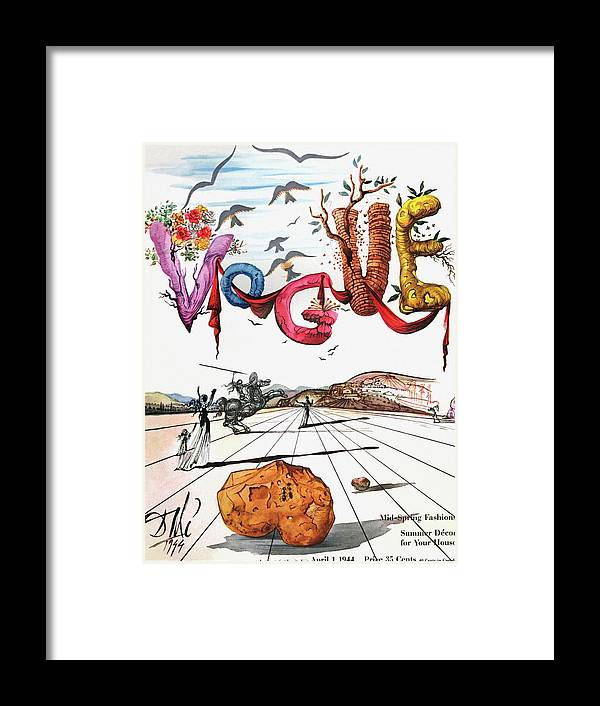 Art Framed Print featuring the photograph Spring Letters With A Visage Of Dali by Salvador Dali