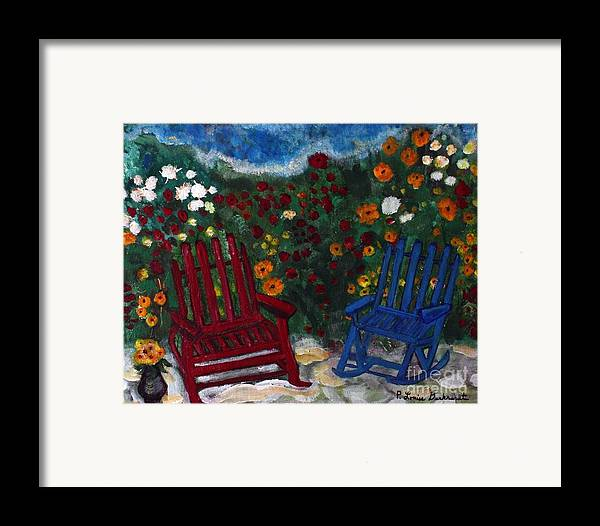 Spring Scenery Framed Print featuring the painting Spring Memories by Louise Burkhardt