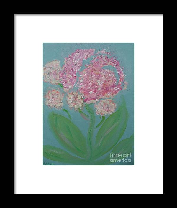 Flowers Framed Print featuring the painting Spring Pink Flowers 1 by Bobbi Groves