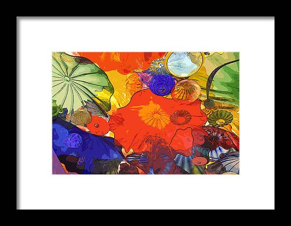 Abstract Framed Print featuring the digital art Spring Poppies by Kirt Tisdale