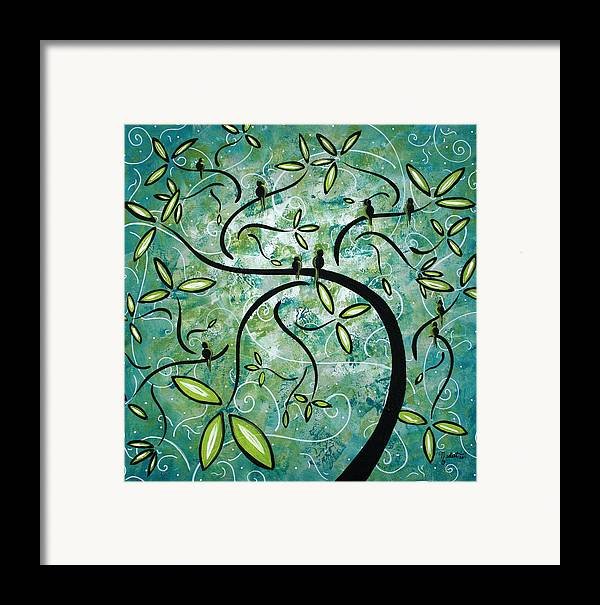 Wall Framed Print featuring the painting Spring Shine By Madart by Megan Duncanson
