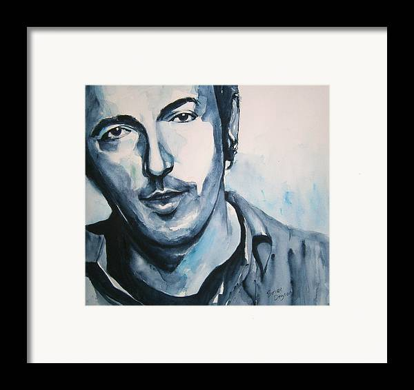 Springsteen Framed Print featuring the painting Springsteen by Brian Degnon