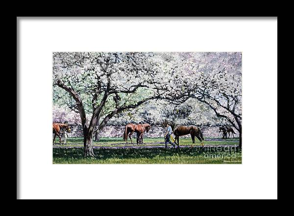Derby Framed Print featuring the painting Springtime at Keeneland by Thomas Allen Pauly