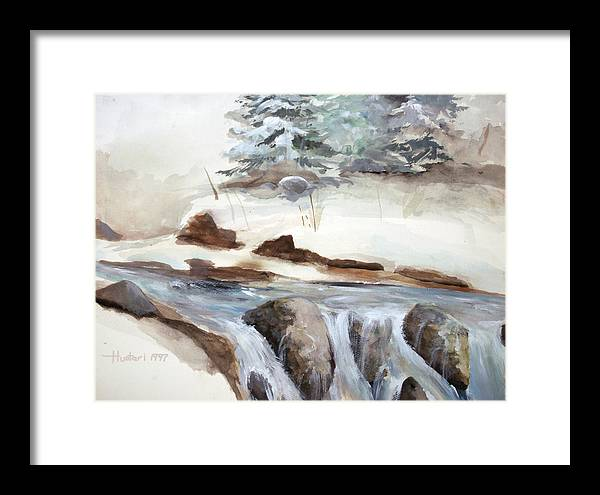 Rick Huotari Framed Print featuring the painting Springtime by Rick Huotari