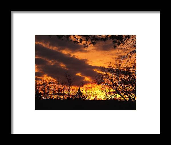 New England Framed Print featuring the photograph Springtime Sunset by Gene Cyr