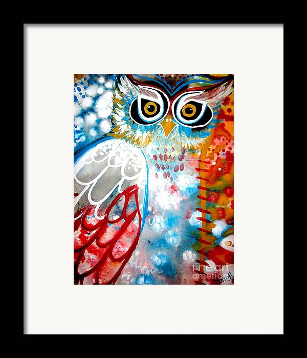 Owl Framed Print featuring the painting Sprinkles by Amy Sorrell