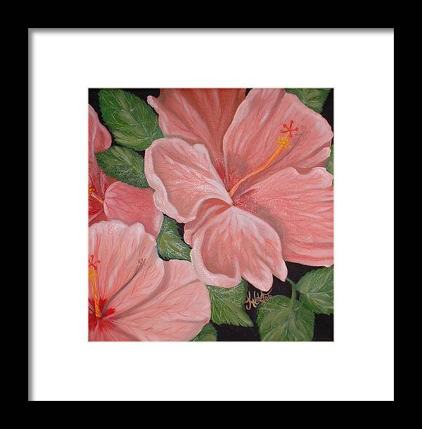 Hibiscus Framed Print featuring the painting Square Foot Hibiscus by Kathern Welsh