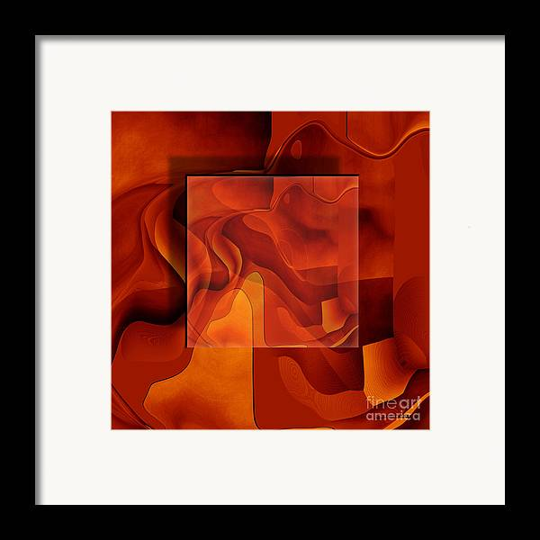 Conceptual Framed Print featuring the painting Square On Square by Christian Simonian