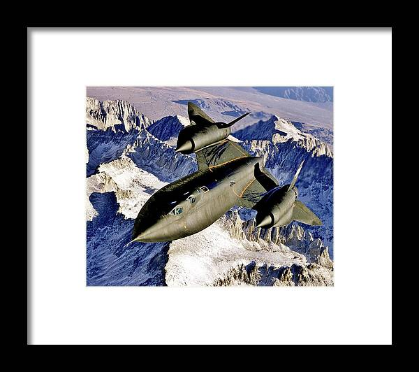 Sr Framed Print featuring the photograph SR-71 Over The Sierras by Benjamin Yeager