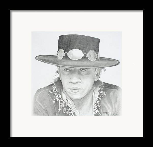 Srv Framed Print featuring the drawing SRV by Don Medina