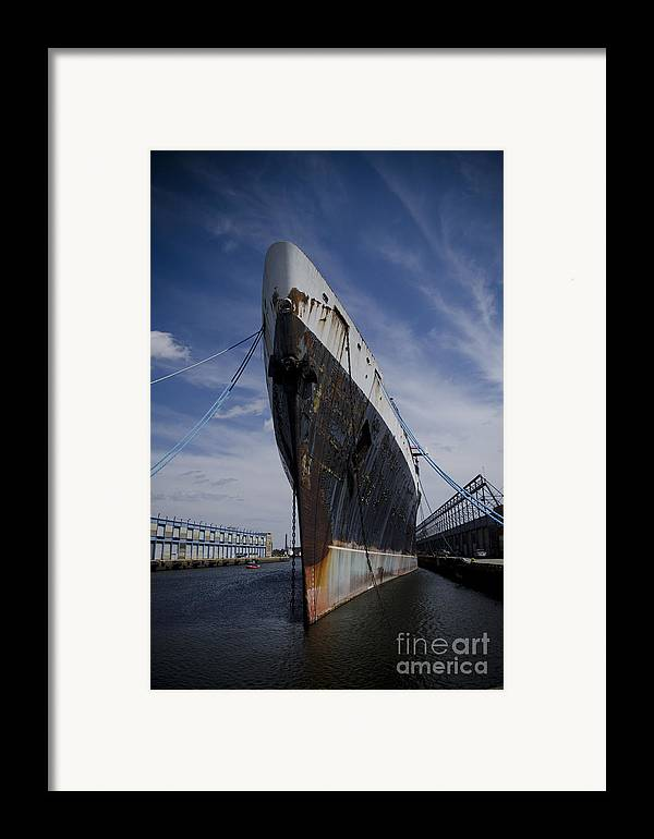Ship Framed Print featuring the photograph Ss United States By Jessica Berlin by Jessica Berlin