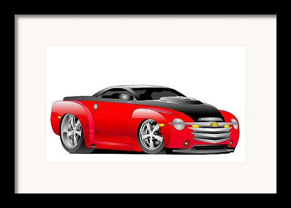 Chevrolet Framed Print featuring the digital art Ssr Toon by Lyle Brown