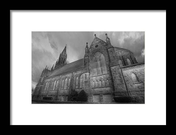 Black And White Framed Print featuring the photograph St. Ann's Church by Brian Fisher