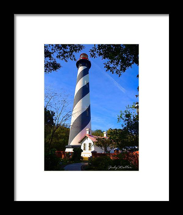 St. Augustine Framed Print featuring the photograph St. Augustine Lighthouse by Judy Waller