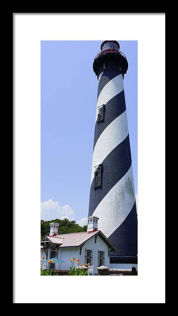 St. Augustine Framed Print featuring the photograph St. Augustine Lighthouse by Laurie Perry