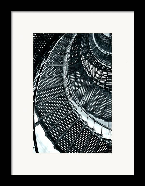Saint Framed Print featuring the photograph St Augustine Lighthouse Staircase by Christine Till