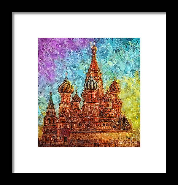 St Basil Framed Print featuring the painting St Basil by Mo T