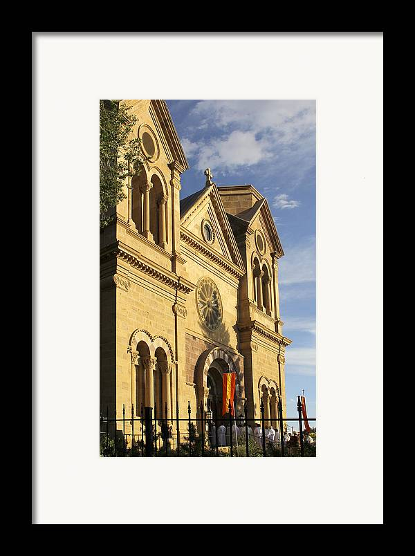 St. Francis Cathedral Framed Print featuring the photograph St. Francis Cathedral - Santa Fe by Mike McGlothlen