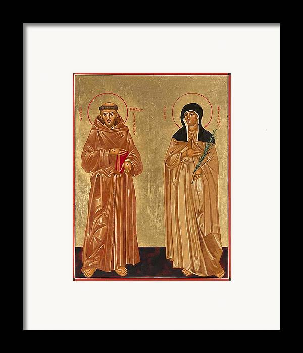 Icons Framed Print featuring the painting St. Francis Of Assisi And St. Clare by Joseph Malham