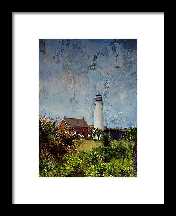 Lighthouse Framed Print featuring the photograph St. George Island Historic Lighthouse by Carla Parris