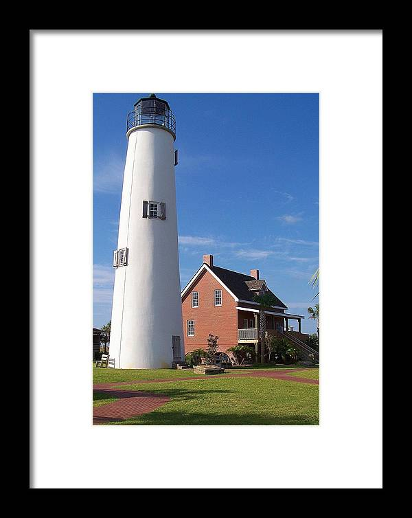Lighthouse Framed Print featuring the photograph St. George Lighthouse by Laurie Perry