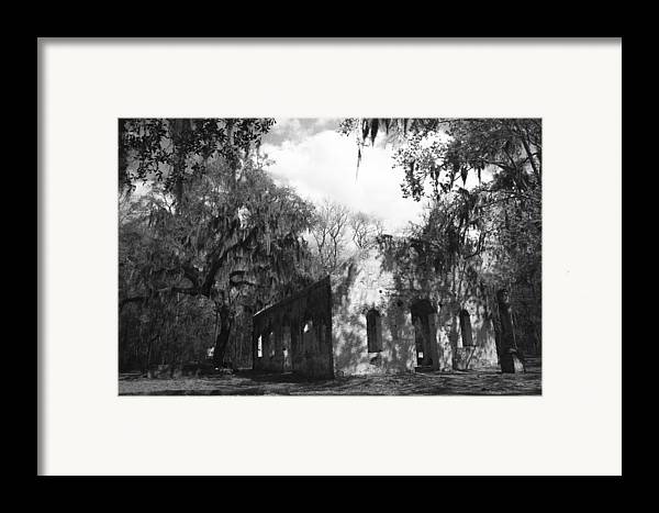 Chapel Of Ease Framed Print featuring the photograph St Helena Chapel Of Ease Bw 2 by Steven Taylor
