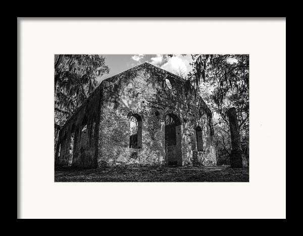 Chapel Of Ease Framed Print featuring the photograph St Helena Chapel Of Ease Bw 3 by Steven Taylor