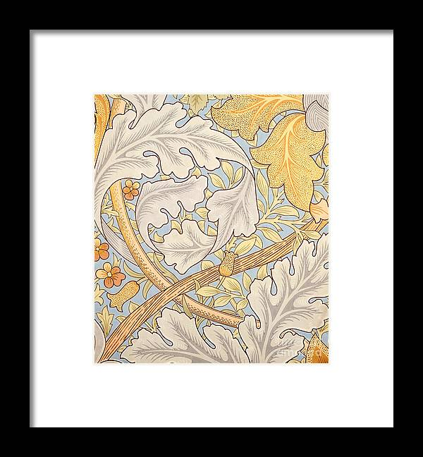 St James Framed Print featuring the painting St James Wallpaper Design by William Morris