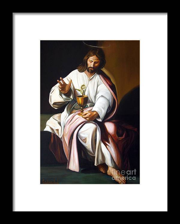 Classic Art Framed Print featuring the painting St John The Evangelist by Silvana Abel