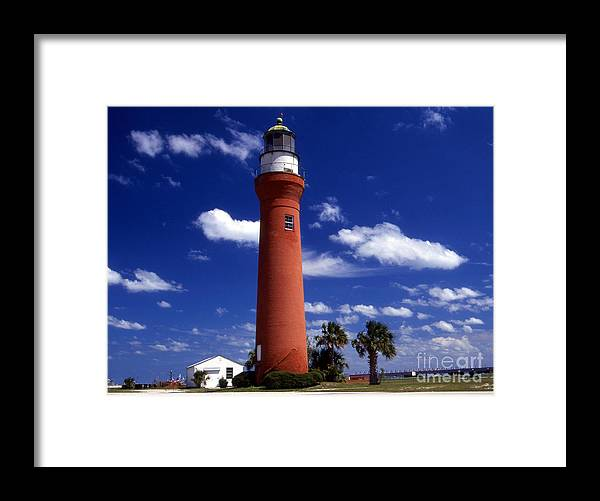 Lighthouses Framed Print featuring the photograph St Johns River Lighthouse by Skip Willits