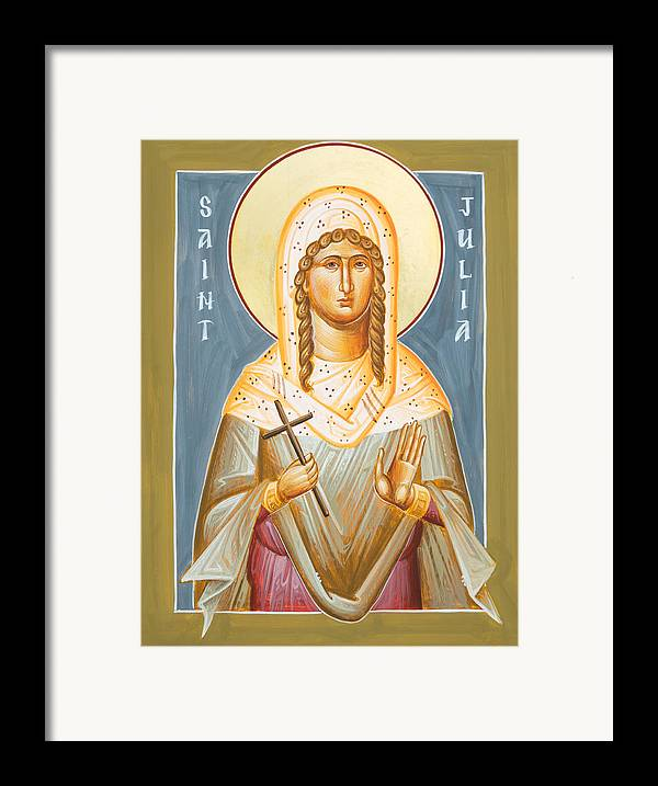 St Julia Icon Framed Print featuring the painting St Julia Of Carthage by Julia Bridget Hayes