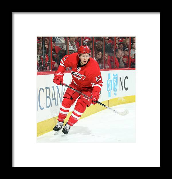 North Carolina Framed Print featuring the photograph St. Louis Blues V Carolina Hurricanes by Gregg Forwerck