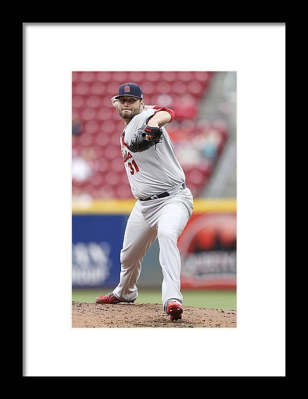 Great American Ball Park Framed Print featuring the photograph St. Louis Cardinals v Cincinnati Reds by Joe Robbins