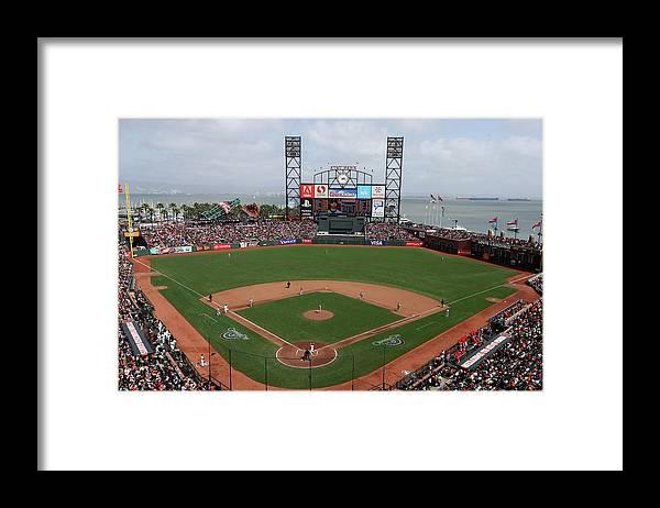 San Francisco Framed Print featuring the photograph St. Louis Cardinals V. San Francisco by Brad Mangin