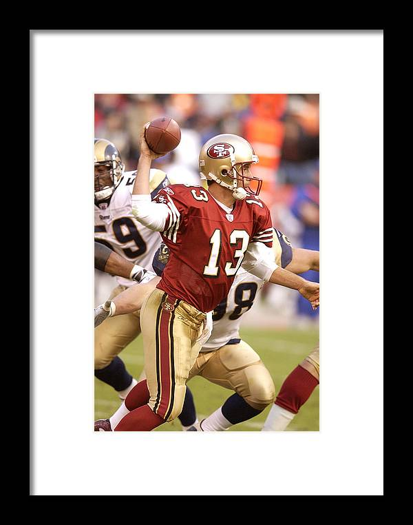 84b964a09de Candlestick Park Framed Print featuring the photograph St. Louis Rams V San  Francisco 49ers by