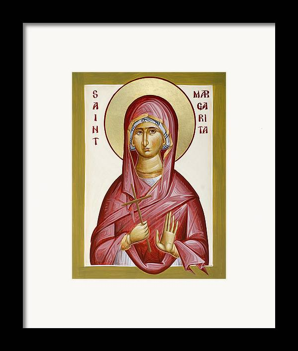 St Margarita Framed Print featuring the painting St Margarita by Julia Bridget Hayes